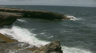Rough ocean on the north side of curacao 15 Stock Footage