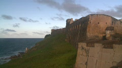 San Juan Puerto Rico old town Fort San Cristóbal  Stock Footage