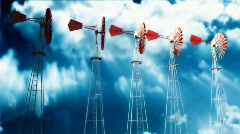 Old Energy Generator and Stormy Clouds with Alpha Stock Footage