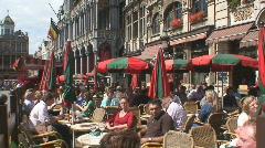 Brussels Street 14 Stock Footage