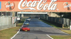 Trackday Zolder lots of cars Stock Footage
