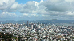 San Francisco from Twin Peaks - stock footage