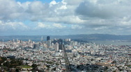 San Francisco from Twin Peaks Stock Footage
