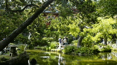 Japanese Tea Garden, San Francisco Stock Footage