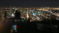 Night time San Francisco from Twin Peaks Stock Footage