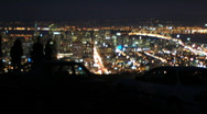 Stock Video Footage of Night time San Francisco from Twin Peaks