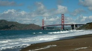 Stock Video Footage of Golden Gate Bridge from Baker Beach