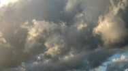 Clouds near sunset Stock Footage