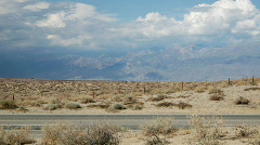 White Mountains from Highway 395 Stock Footage