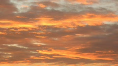Clouds at sunset - stock footage