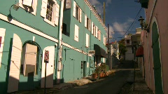 St.Thomas old town, #7 Stock Footage