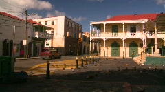 StThomas old town, #15 pigeons Stock Footage