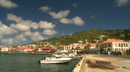 Stock Video Footage of St.Thomas harbor, Caribbean, #10 and old town