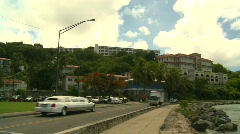 StThomas old town, #16 traffic Stock Footage