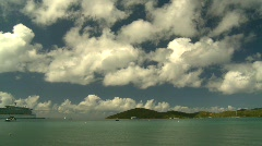 St.Thomas bay, boats Stock Footage