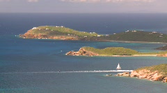 St.Thomas bay, boats, #1 Stock Footage