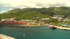 St.Thomas harbor, Caribbean, #12 pan Stock Footage