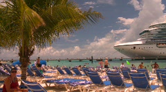 sandy beach, tropics, #1 - stock footage