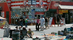 Stock Video Footage of Venice Beach Boardwalk, California