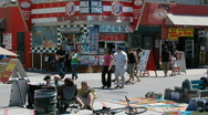 Venice Beach Boardwalk, California Stock Footage