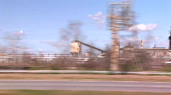 Interstate oil refinary Stock Footage