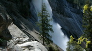 Stock Video Footage of Nevada Falls, Yosemite N