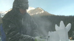 Ice carver 6b Stock Footage