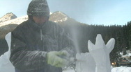 Stock Video Footage of Ice carver 6b