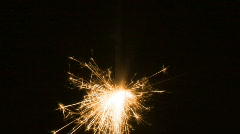 Golden sparkler buring Stock Footage