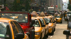 Stock Video Footage of New York City, taxi cabs, #1