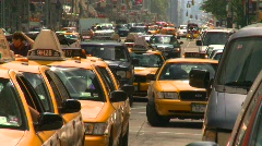 Stock Video Footage of New York City, taxi cabs, #2