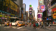New York City, Times Square, pre pedestrian mall - stock footage
