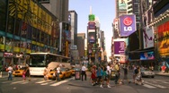 New York City, Times Square, pre pedestrian mall Stock Footage