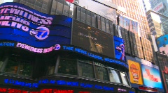 New York City, Times Square, slow pan 360 degrees  Stock Footage