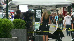 TV news crew at Times square Stock Footage