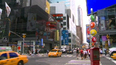 New York City, Times Square, pre-pedstrian mall wide Stock Footage