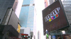 New York City, Times Square, time lapse, day M&Ms sign Stock Footage