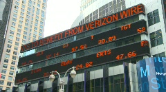 New York City stock ticker Stock Footage