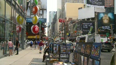 New York City, Times square, snap zooms Stock Footage