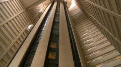Indoor glass elevators, time lapse Stock Footage