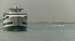 Maritime transportation, ferry boat Stock Footage