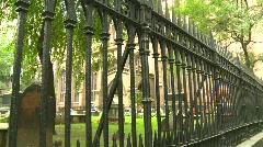 Church cemetery, New York City, mid 1700s, #3 Stock Footage
