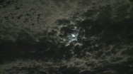 Stock Video Footage of moon behind clouds time lapse