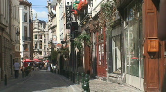 Brussels Street 22 Stock Footage