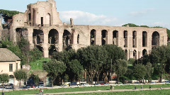 Basilica of Maxentius - stock footage