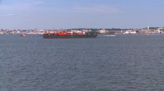 Maritime transportation, tug and barge, New York City, #8 Stock Footage