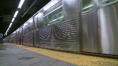 New York City subway, #32 low angle through frame Stock Footage