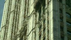 Skyscraper gothic arch Stock Footage