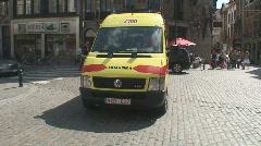 Brussels Ambulance Stock Footage