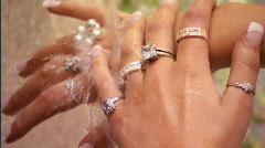 Beautiful hands Stock Footage